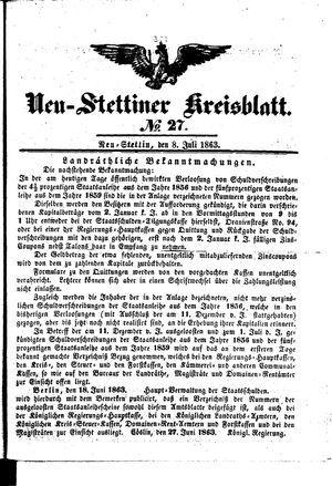 Neustettiner Kreisblatt vom 08.07.1863