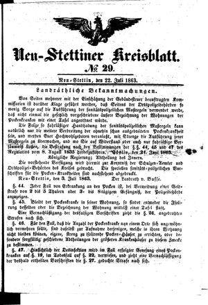 Neustettiner Kreisblatt vom 22.07.1863