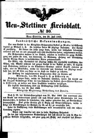 Neustettiner Kreisblatt on Jul 29, 1863