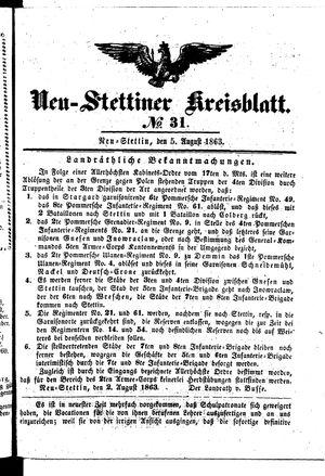 Neustettiner Kreisblatt vom 05.08.1863