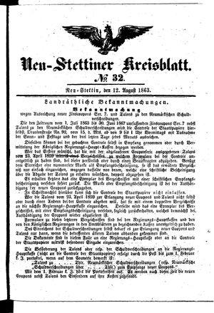 Neustettiner Kreisblatt vom 12.08.1863