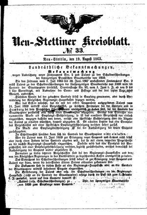 Neustettiner Kreisblatt vom 19.08.1863