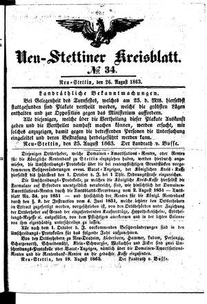 Neustettiner Kreisblatt on Aug 26, 1863