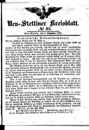 Neustettiner Kreisblatt vom 02.09.1863
