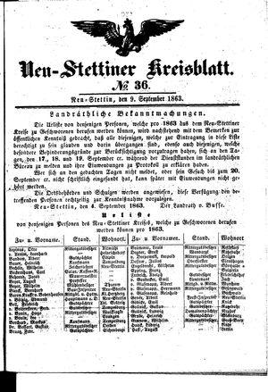 Neustettiner Kreisblatt vom 09.09.1863