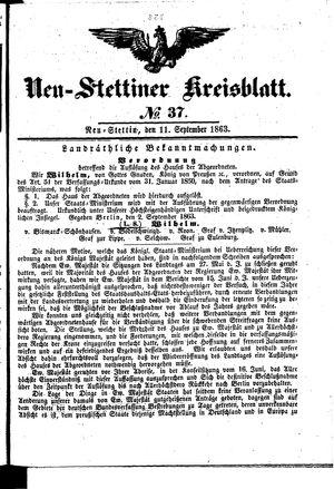 Neustettiner Kreisblatt vom 11.09.1863