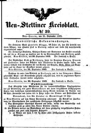 Neustettiner Kreisblatt vom 25.09.1863