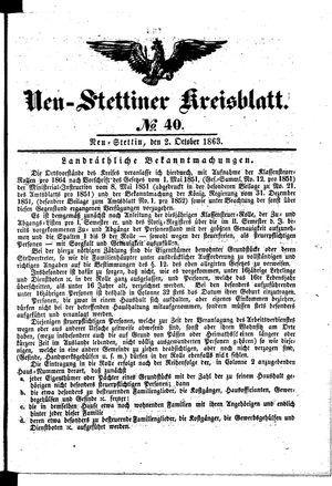 Neustettiner Kreisblatt vom 02.10.1863