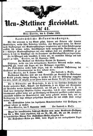 Neustettiner Kreisblatt on Oct 9, 1863