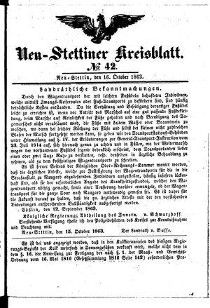 Neustettiner Kreisblatt vom 16.10.1863