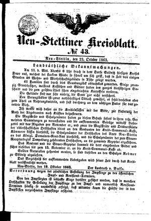 Neustettiner Kreisblatt vom 23.10.1863
