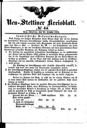 Neustettiner Kreisblatt vom 30.10.1863