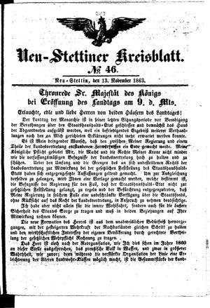 Neustettiner Kreisblatt vom 13.11.1863