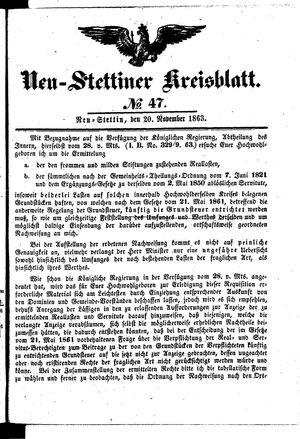 Neustettiner Kreisblatt vom 20.11.1863