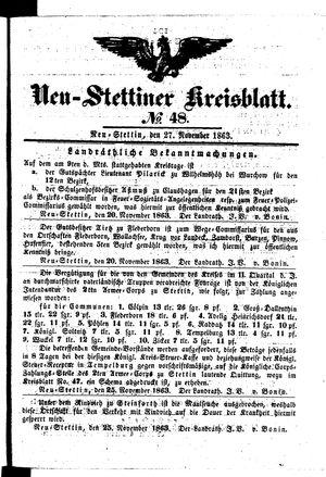 Neustettiner Kreisblatt vom 27.11.1863