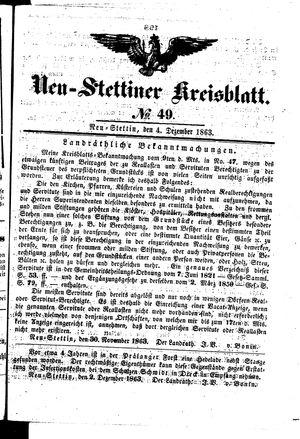 Neustettiner Kreisblatt vom 04.12.1863