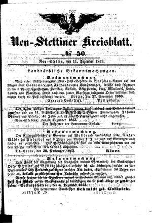 Neustettiner Kreisblatt vom 11.12.1863