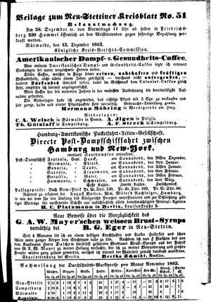 Neustettiner Kreisblatt vom 18.12.1863