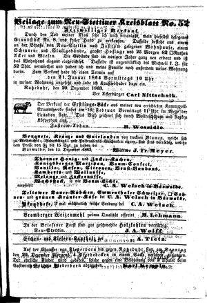 Neustettiner Kreisblatt vom 25.12.1863