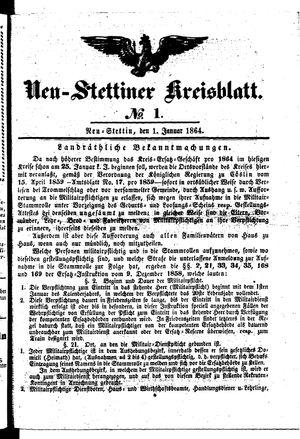 Neustettiner Kreisblatt vom 01.01.1864