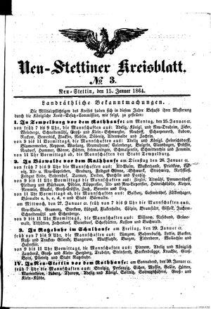 Neustettiner Kreisblatt vom 15.01.1864