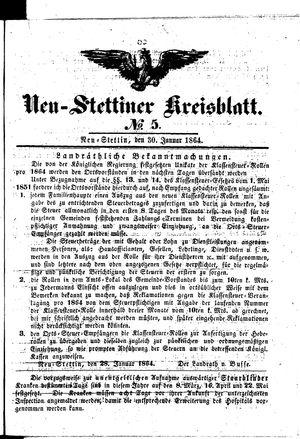 Neustettiner Kreisblatt vom 30.01.1864
