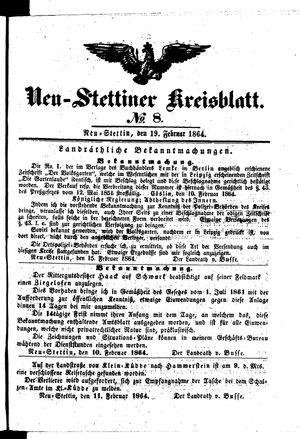 Neustettiner Kreisblatt vom 19.02.1864