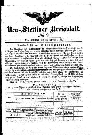 Neustettiner Kreisblatt vom 26.02.1864