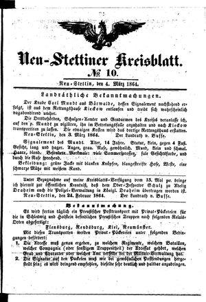 Neustettiner Kreisblatt on Mar 4, 1864