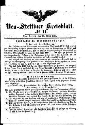 Neustettiner Kreisblatt vom 11.03.1864
