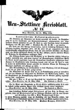 Neustettiner Kreisblatt vom 18.03.1864