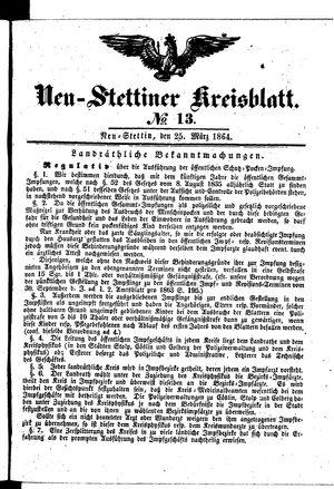 Neustettiner Kreisblatt on Mar 25, 1864