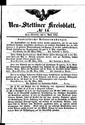 Neustettiner Kreisblatt vom 01.04.1864