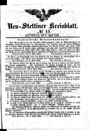 Neustettiner Kreisblatt vom 08.04.1864