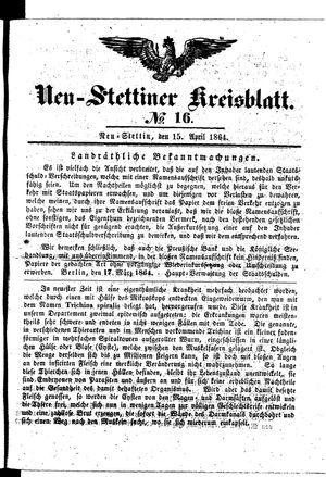 Neustettiner Kreisblatt vom 15.04.1864