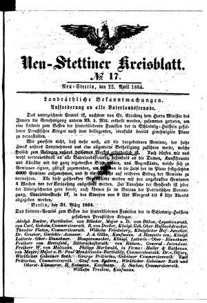 Neustettiner Kreisblatt vom 22.04.1864