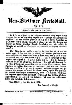 Neustettiner Kreisblatt on Apr 25, 1864
