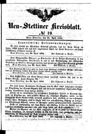 Neustettiner Kreisblatt vom 29.04.1864