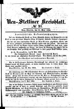 Neustettiner Kreisblatt on May 13, 1864