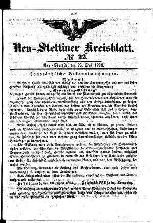 Neustettiner Kreisblatt vom 20.05.1864