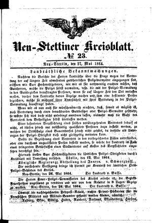 Neustettiner Kreisblatt vom 27.05.1864