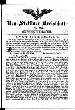 Neustettiner Kreisblatt vom 03.06.1864