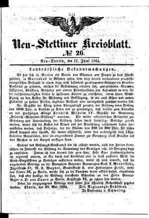 Neustettiner Kreisblatt vom 17.06.1864