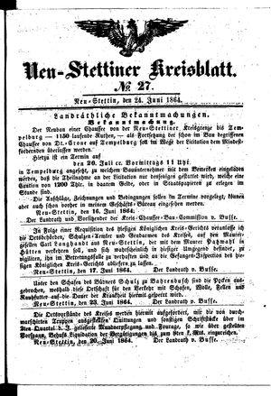 Neustettiner Kreisblatt vom 24.06.1864