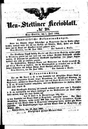 Neustettiner Kreisblatt vom 01.07.1864