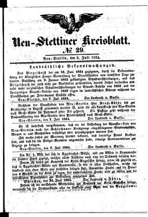 Neustettiner Kreisblatt vom 08.07.1864