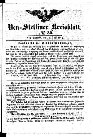 Neustettiner Kreisblatt vom 15.07.1864