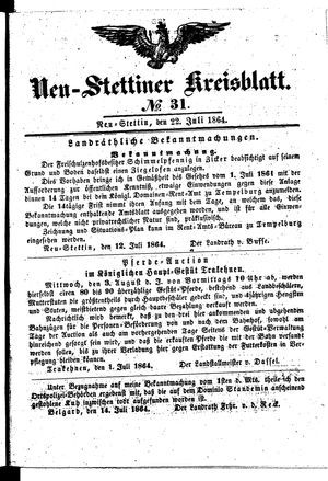 Neustettiner Kreisblatt vom 22.07.1864