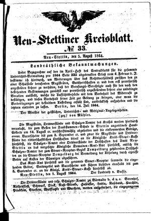 Neustettiner Kreisblatt vom 05.08.1864