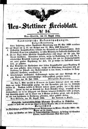 Neustettiner Kreisblatt vom 12.08.1864
